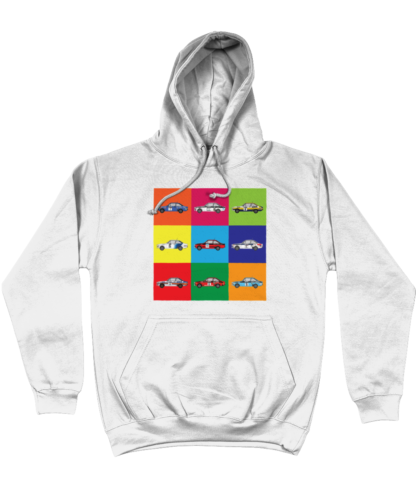 Ford Escorts Hoodie in White