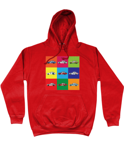 Ford Escorts Hoodie in Red