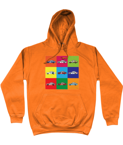 Ford Escorts Hoodie in Orange