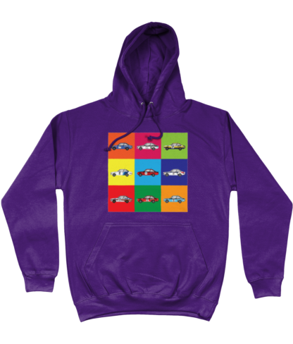Ford Escorts Hoodie in Purple