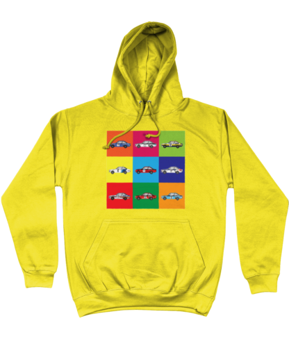 Ford Escorts Hoodie in Yellow