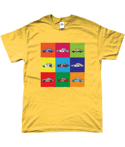 Ford Escort Mk2 Rally Cars T-Shirt in Yellow