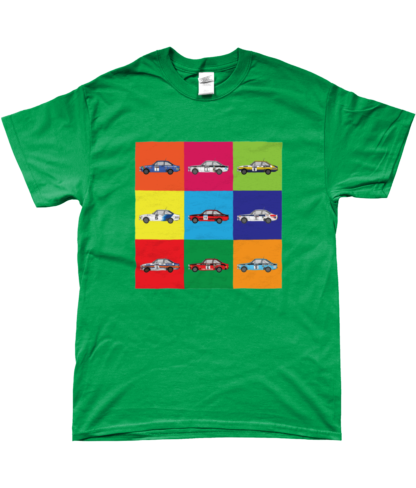 Ford Escort Mk2 Rally Cars T-Shirt in Green