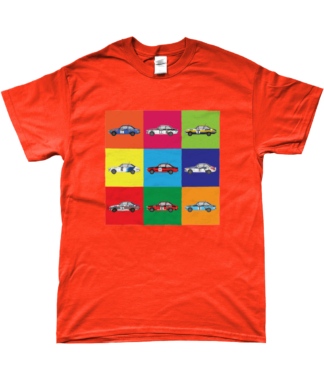 Ford Escort Mk2 Rally Cars T-Shirt in Orange