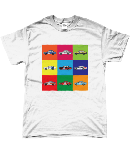 Ford Escort Mk2 Rally Cars T-Shirt in White