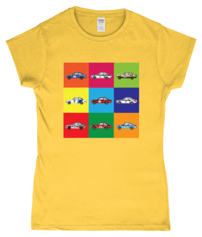 Ford Escorts T-Shirt in Yellow