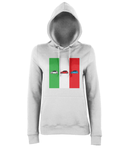 Fiat 500 Italy Hoodie in White