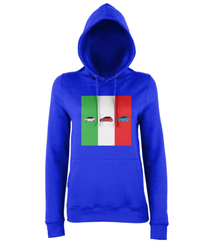 Fiat 500 Italy Hoodie in Blue