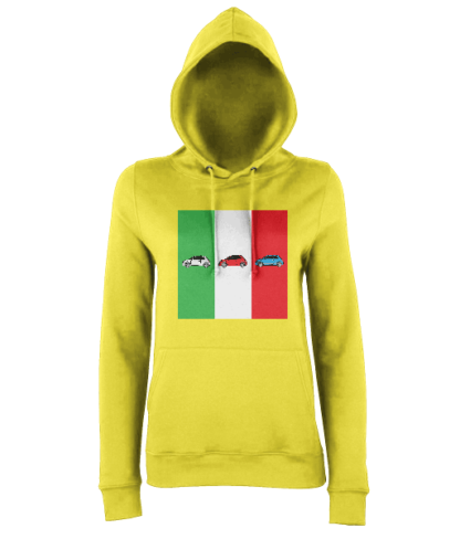 Fiat 500 Italy Hoodie in Yellow