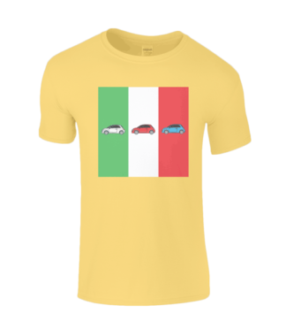 Fiat 500 Italy T-Shirt in Yellow