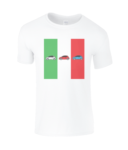 Fiat 500 Italy T-Shirt in White