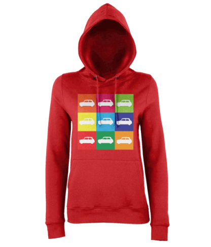 Mini Hoodie in Red