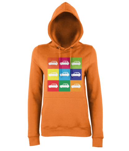 Mini Hoodie in Orange