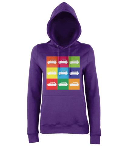 Mini Hoodie in Purple