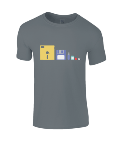 IT Storage Evolution T-Shirt in Charcoal