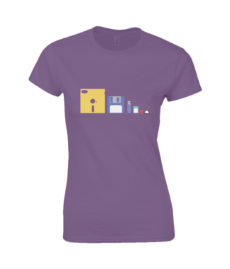IT Storage Evolution T-Shirt in Purple