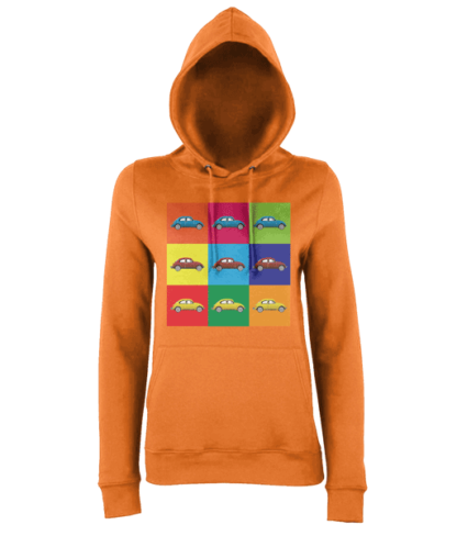 VW Beetle Hoodie in Orange