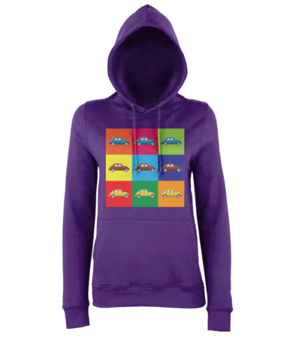 VW Beetle Hoodie in Purple