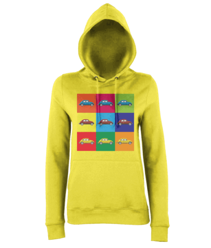 VW Beetle Hoodie in Yellow