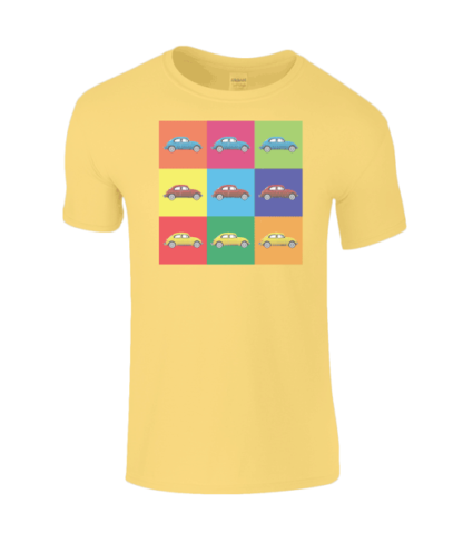 VW Beetle T-Shirt in Yellow