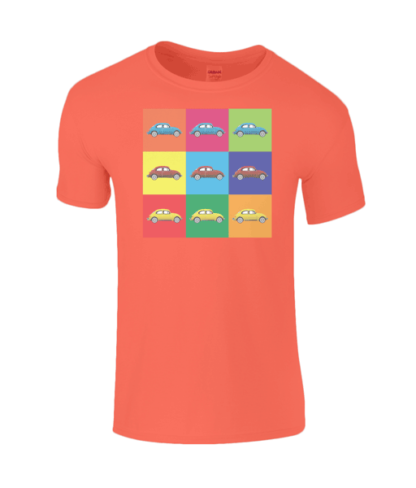 VW Beetle T-Shirt in Orange