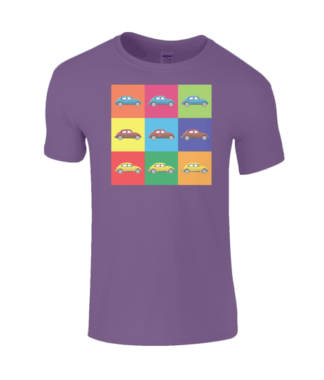 VW Beetle T-Shirt in Purple