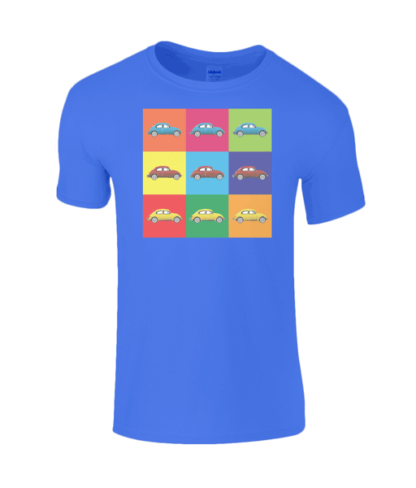 VW Beetle T-Shirt in Blue