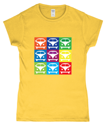 VW Campervan T-Shirt in Yellow