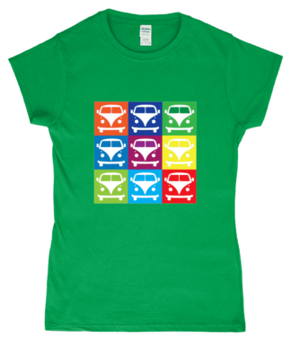 VW Campervan T-Shirt in Green