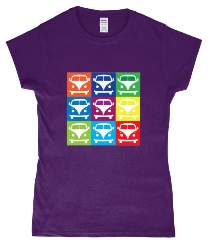 VW Campervan T-Shirt in Purple