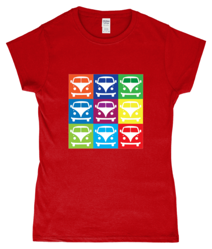 VW Campervan T-Shirt in Red