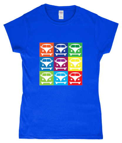 VW Campervan T-Shirt in Blue