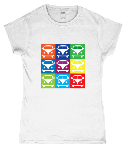 VW Campervan T-Shirt in White
