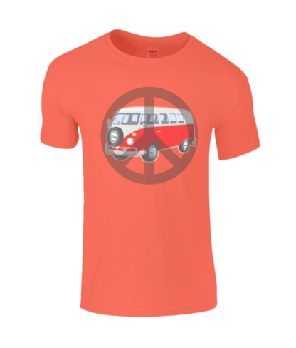 Camper Van T-shirt in Orange