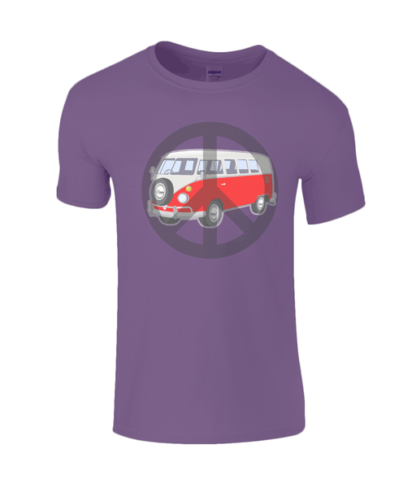 Camper Van T-shirt in Purple