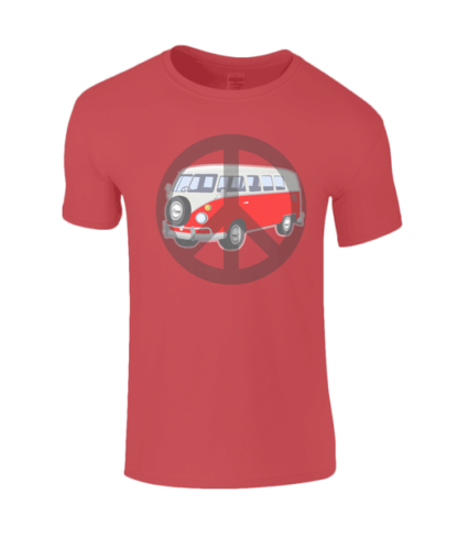 Camper Van T-shirt in Red