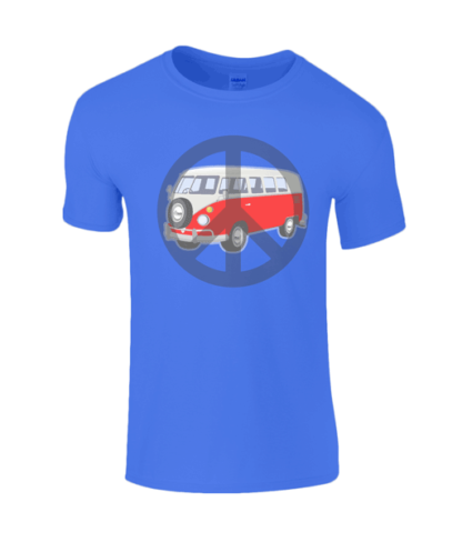 Camper Van T-shirt in Blue