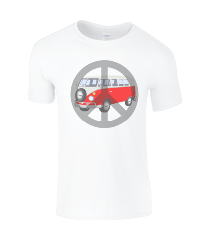 Camper Van T-shirt in White