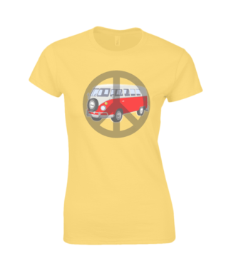 Camper Van T-shirt in Yellow