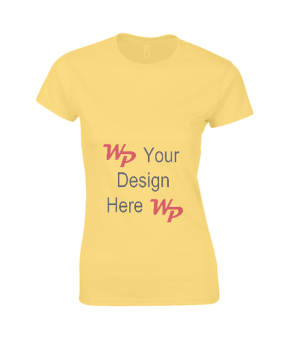 Personalise Ladies T-Shirt