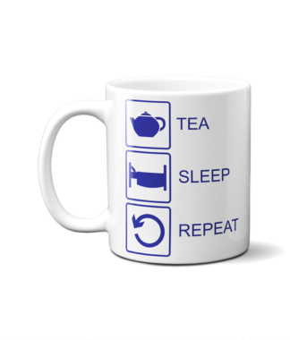 Tea Sleep Repeat Mug