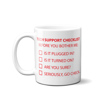 IT Tech Support Checklist Mug