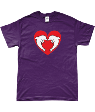 Heart Dolphin T-Shirt in Purple
