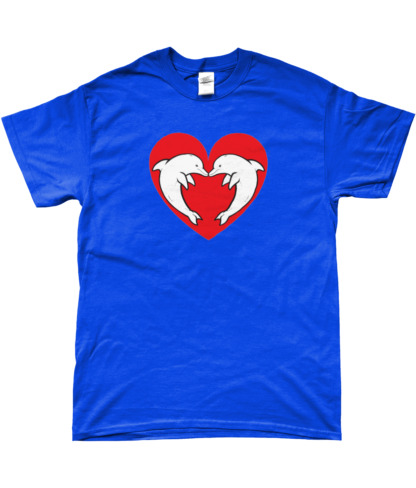 Heart Dolphin T-Shirt in Blue
