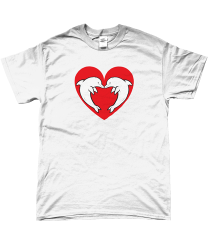 Heart Dolphin T-Shirt in White