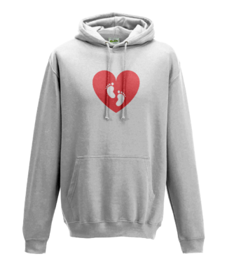 Heart Feet Hoodie in White