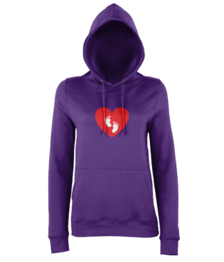 Heart Feet Hoodie in Purple
