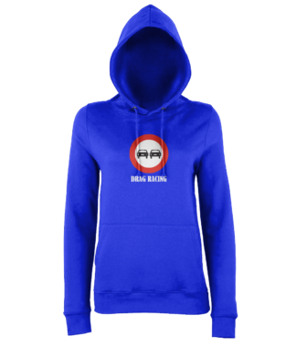 Drag Racing Hoodie in Blue