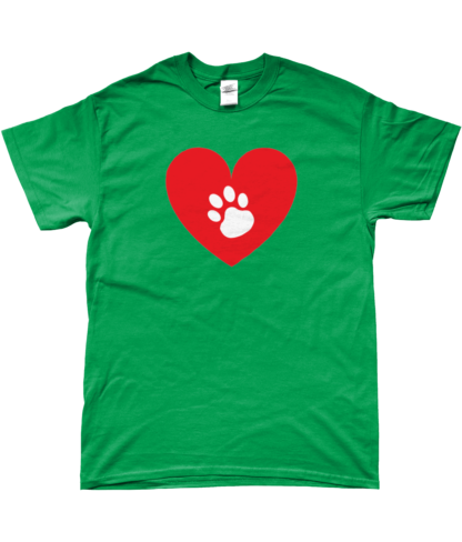 Heart Paw T-Shirt in Green