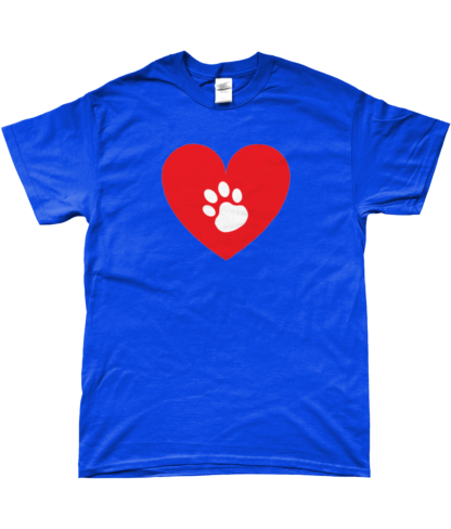 Heart Paw T-Shirt in Blue
